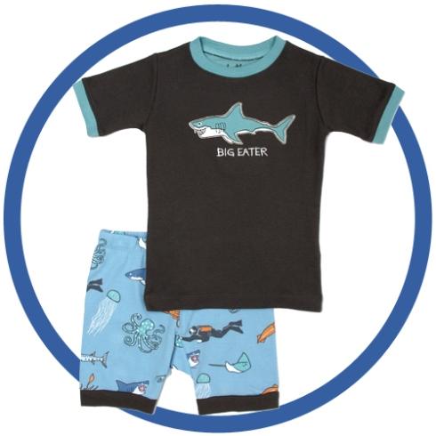 shark beach pajamas