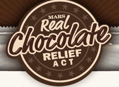 Mars Real Chocolate Relief Act logo